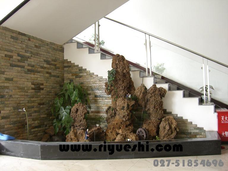 楼梯口假山- 产品展示 - 武汉明石石业有限公司